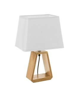 Lámpara de mesita de noche de madera marrón nórdica