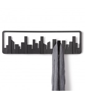 Percha de pared Skyline Multi Negro