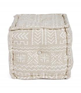 POUF LATIKA NATURAL 40X40