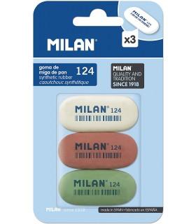 PACK 3 GOMAS MILAN 124