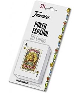 Baraja Poker Español N.211 con 54 Cartas Fournier