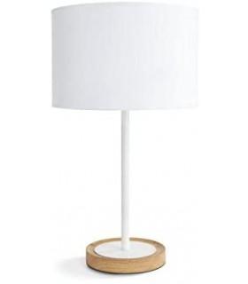 Philips Lighting myLiving Lámpara de mesa E27, iluminación interior, 40 W, blanco