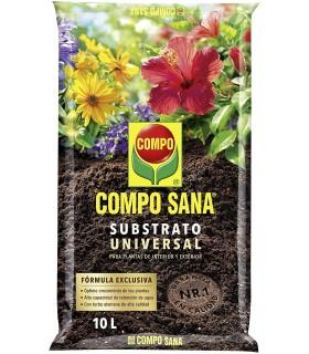 Compo Sana, Sustrato Universal para Plantas de Interior y Exterior, 10 L