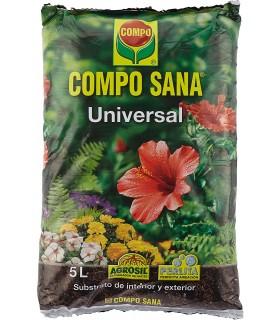 Compo Sana, Sustrato Universal para Plantas de Interior y Exterior, 5 L