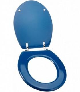 Msv asiento de baño azul marino 43,5 x 37,5 x 1,8 cm
