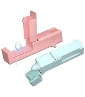 Pulsador agarrador anticontagio (rosa)