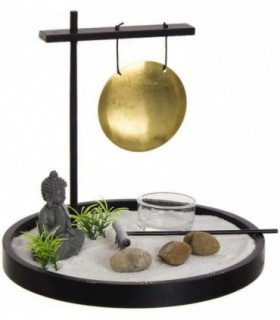 Jardín Zen Buda con Gong y Arena -20x20x 8cm