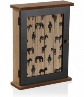 Caja Madera cuelga Llaves 21x6,5x27cm (Zebra)