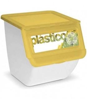 Cubos de Basura de Reciclaje 36L (Amarillo PLASTICO)