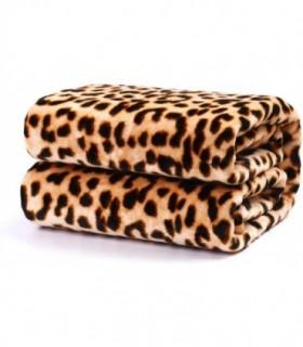 Mantas Sofá de Terciopelo Leopardo