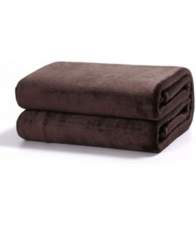 Mantas Sofá de Terciopelo Chocolate