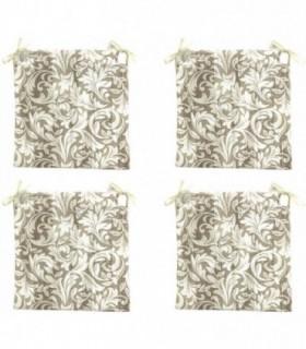 Pack de 4 Cojines para Sillas (Flores)