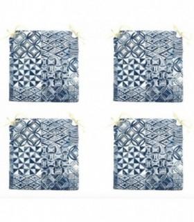 Pack de 4 Cojines para Sillas (Hidráulico Azul)