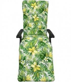 Cojín Acolchado Tumbona 180cm (Flor Amarilla)
