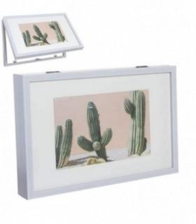 Tapa de Contador de Luz Diseño Multi fotos(Rectangular Blanco)