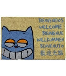 Felpudo Exterior Gato Bienvenido, 40x60