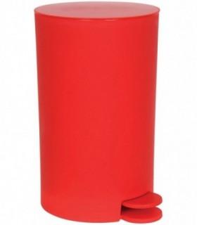 Cubo de Basura con Pedal  3 LColor Rojo