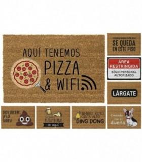 Felpudos Entrada Casa Originales Pizza 40x70 cm