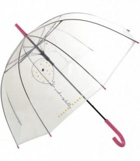Paraguas Transparente Frase La Vida es Bella