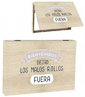 Tapa Contador Diseño Frase Original Malos Rollos