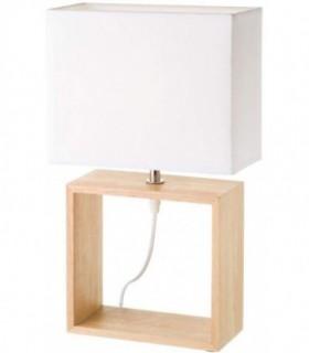 Lámpara de sobremesa de madera blanca nórdica
