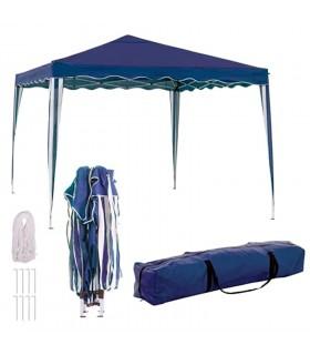 TIENDA EURASIA® Cenador Plegable con Ventilación Superior de Acero de 300x300x250 cm - Bolsa de Transporte de Tela Incluida
