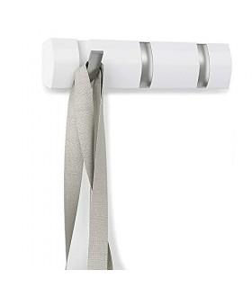 Umbra DPE3742028 - Perchero de Pared, Color Blanco, 33 x 7 cm
