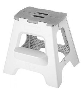 VIGAR Taburete plegable compacto plegable de 2 pasos, 16 pulgadas, ligero, capacidad de 330 libras, taburete plegable antidesliz