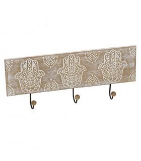 TIENDA EURASIA® Perchero de Pared Decorativo Madera - 3 Colgantes - 38 x 11 x 1 cm