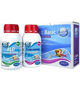 TIENDA EURASIA® Kit Basico de Mantenimiento para Piscinas Pequeñas - Especialmente Piscinas Desmontables e Hinchables - 500 gr C
