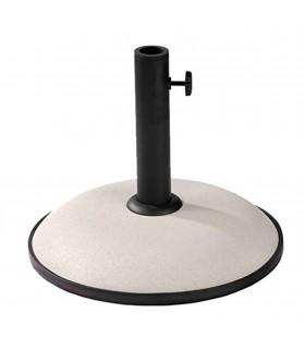 TIENDA EURASIA® Base para Sombrillas de Hormigón - Soporte de Tubo Metálico - 11 Kg - Compatible con Sombrillas de Ø 30-35-38 cm