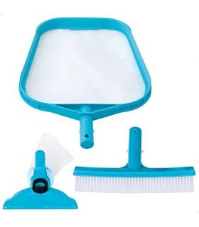 Intex 29056 - Kit de limpieza básico recoge hojas, cepillo y cabezal