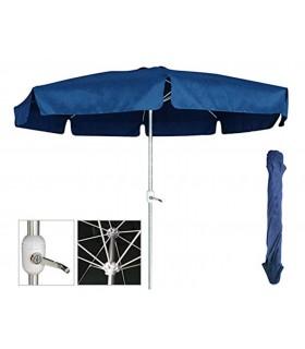 TIENDA EURASIA® Sombrilla con Manivela Hexagonal 300 cm - Tubo de Aluminio 8 Varillas - Plegable con Bolsa Funda Incluida