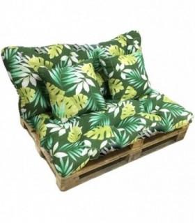 Cojín para Palet 4 Piezas - Diseños Tropicales
