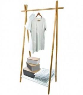 Perchero de Pie Madera Blanco Estilo Nordico - 64 x 44 x 160,5 cm