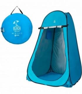 Tienda campaña cambiador para camping con suelo 120x120x190 cm Azul