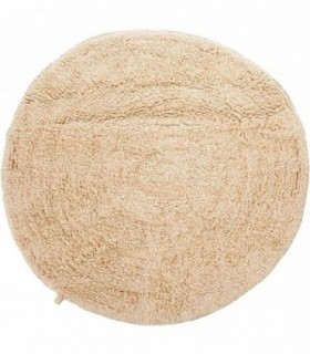 Alfombra de Baño Redonda - 100% Algodon - Ø 57 cm - Tacto Suave (Beige)