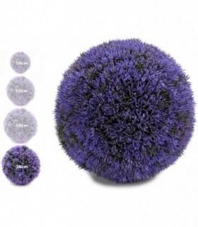 Bola Artificial de Decoracion - Seto Artificial Decorativo (Lila, 38 cm)