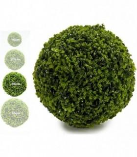 Bola Artificial de Decoracion - Seto Artificial Decorativo (Trebol, 28 cm)