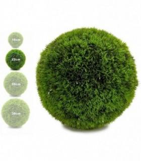 Bola Artificial de Decoracion - Seto Artificial Decorativo (Verde, 22 cm)
