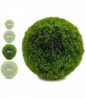 Bola Artificial de Decoracion - Seto Artificial Decorativo (Verde, 28 cm)