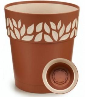 Maceta de Plástico (Marrón, 20 cm)