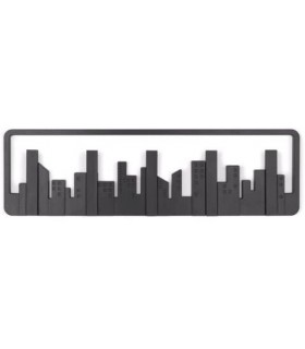 Perchero de Pared  5G,  Skyline Negro