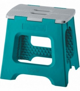 Taburete Plegable Compact de Color Turquesa de 32 cm de Altura