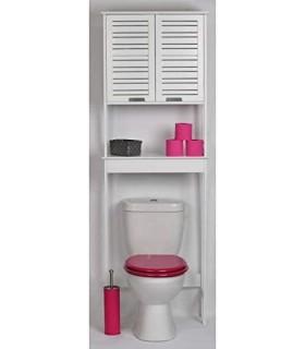 Mueble para baño WC 2 puertas y 1 estante Diseño puro y sencillo