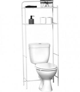 Estanteria Metalica de 2 Baldas Universal Adaptable a Todos los WC (White)