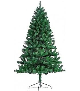 Árbol de Navidad Artificiales - Soporte de Pie Metálico (Verde, 210CM)