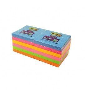 PACK 12 TACOS POST-IT 90H COLORES