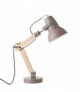 Lámpara flexo de madera gris